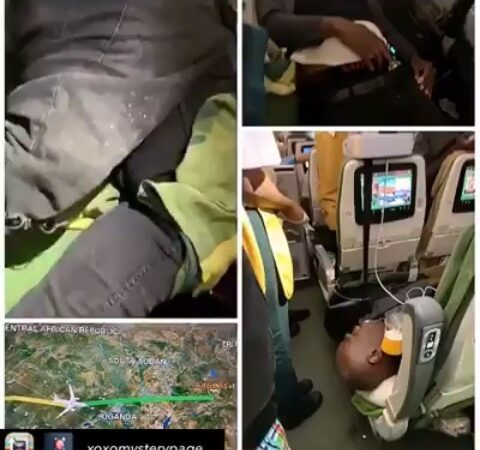 VIDEO: Two Nigerian Men Die In Plane After Drugs They Swallowed Burst In Their Stomach