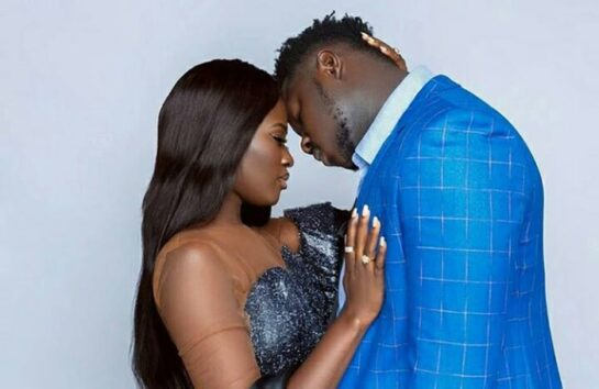Medikal and Fella Makafui chopping love in an elevator