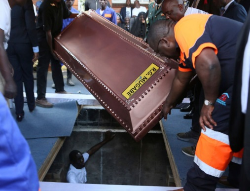 Robert Mugabe Was Buried In A Steel Coffin Encased In Concrete To Prevent His Body From Being Exhumed