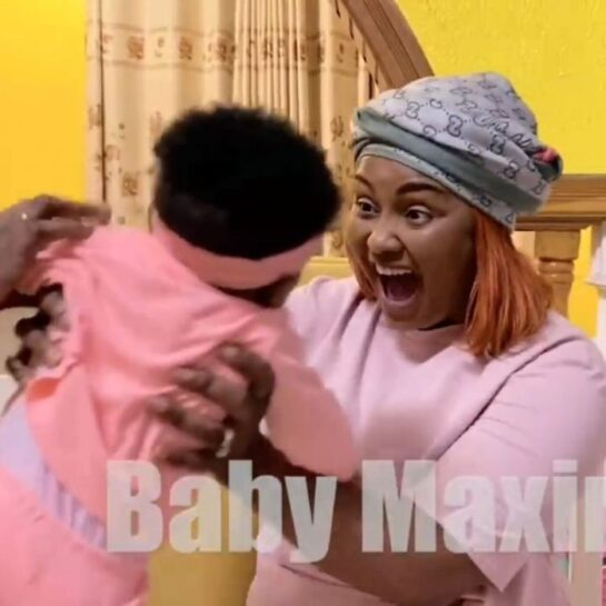 Nana Ama McBrown and her baby, Maxim