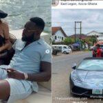Nigerian slay king steals lamborghini car in Germany